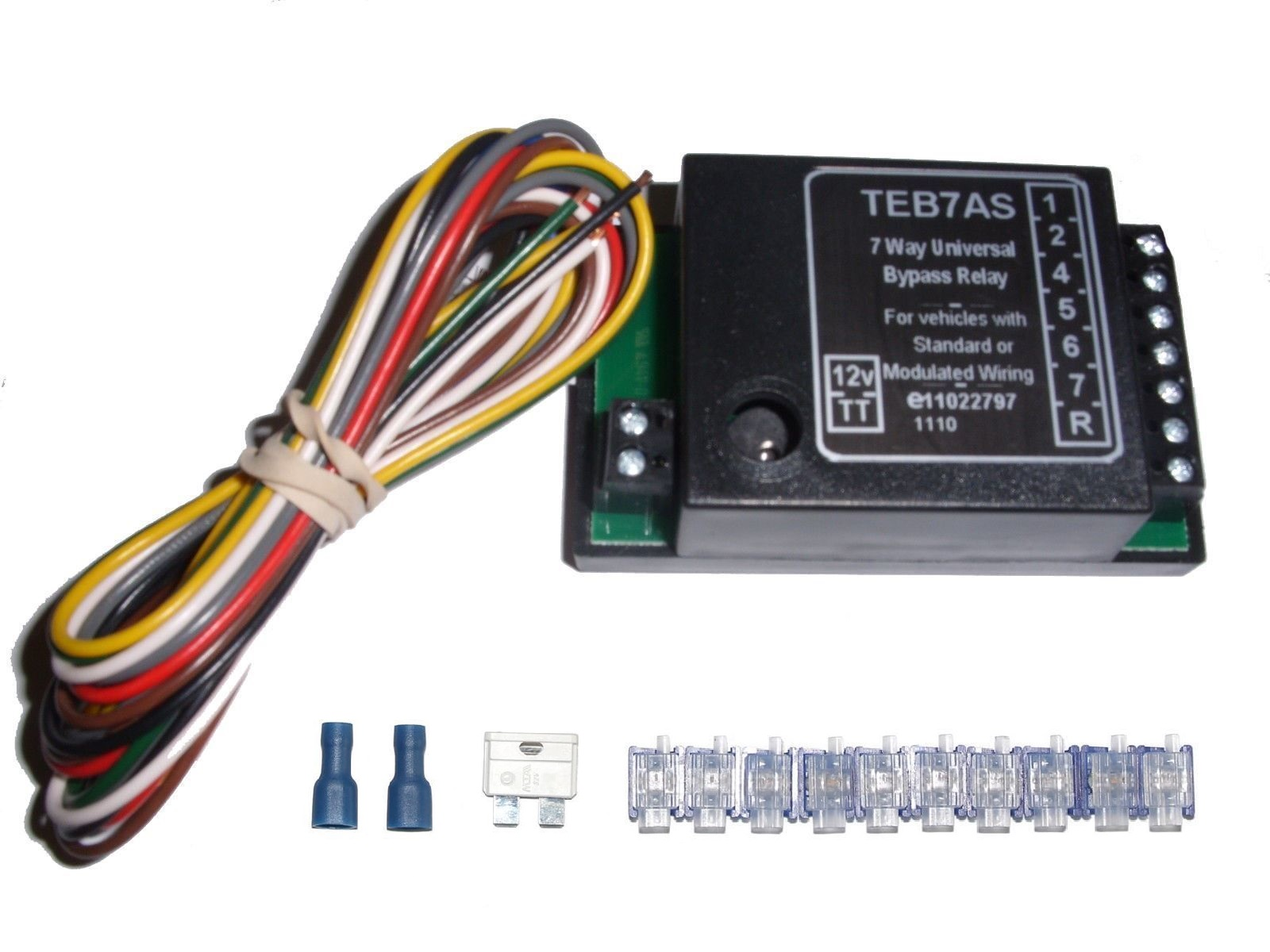 Universal 7 Way Bypass Relay Towing Electrics    Towbar For Wiring Kit